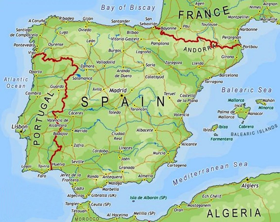 Spain Map Pictures and ...