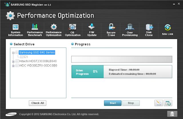 Samsung SSD Magician performance optimzation