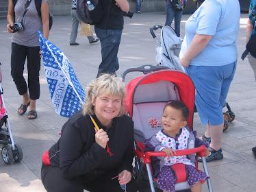 Mimi avec Maman au Palais d'été