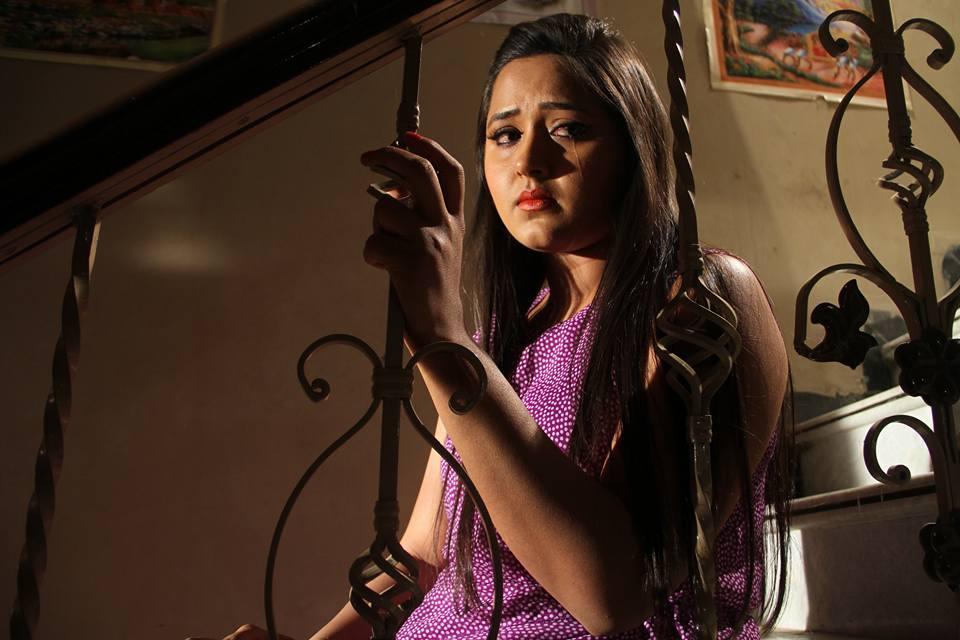 Kajal Raghwani ON Set of Dabang Aashiq Bhojpuri Film Shooting photo