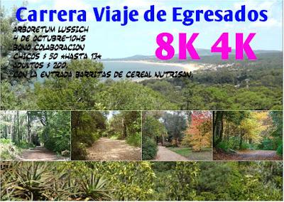 8k y 4k en Arboretum Lussich para Viaje de egresados (Maldonado,04/oct/2015)
