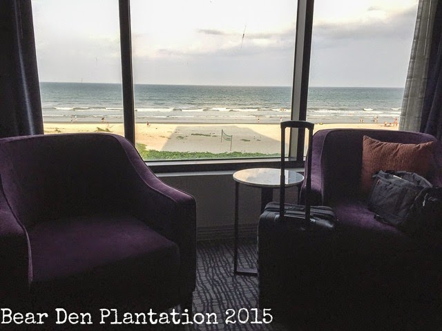 Hilton Hotel room overlooking Cocoa Beach in Florida