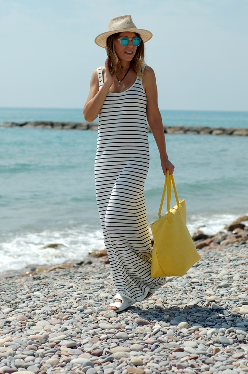 long dress beach day Natura
