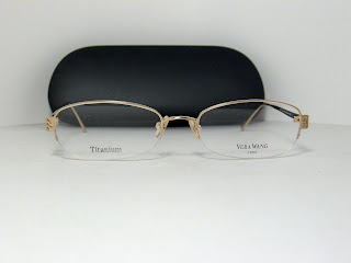 AUTHENTIC VERA WANG V INTRIGUE YG TITANIUM EYEGLASSES