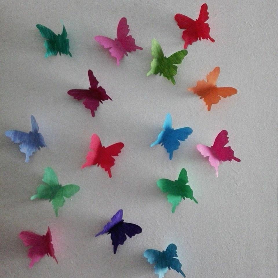 Tutorial mariposas de papel coleccionista de mil historias for 1 cuarto de cartulina