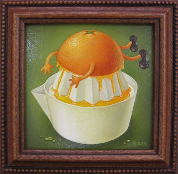 Noir Nouar pinturas propagandas surreais vintage comida