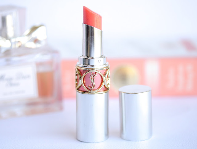 YSL Volupte Sheer Candy Glossy Balm in #2 Dewy Papaya