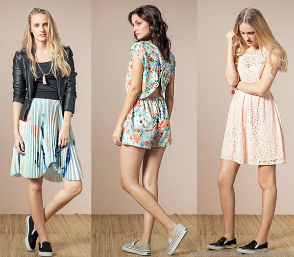 Núcleo Moda primavera verano 2015 moda mujer, faldas, shorts y vestidos 2015.