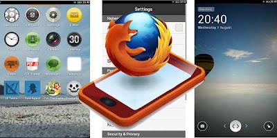 tampilan OS Firefox terbaru, OS penantang Android, OS mobile alternatif selain android ios windows phon esymbian, gambar os firefox