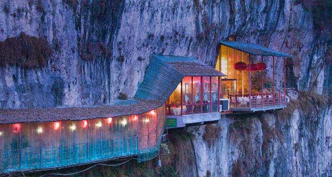 restaurant, mountain, china