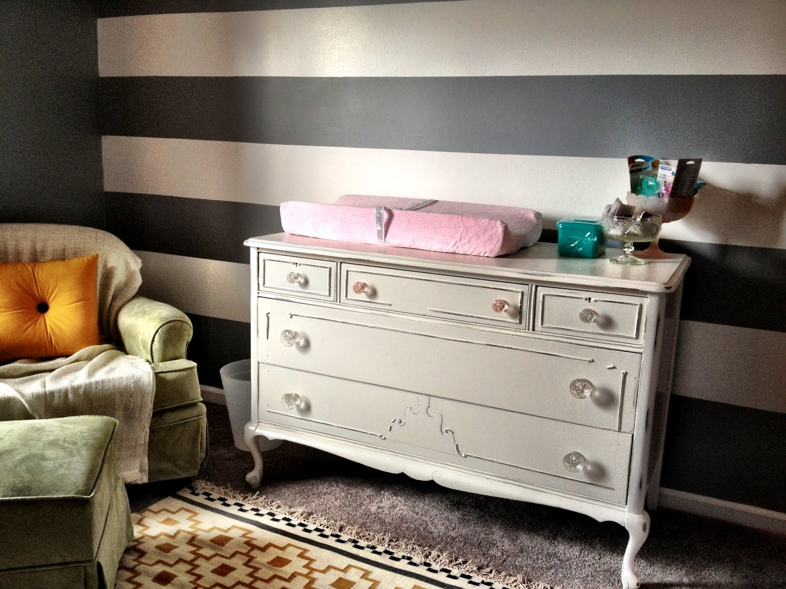 I Just Love It!!! She Painted It With White Paint And Distressed With  Different Grades Of Sandpaperu2026.Now All It Needs Is The Baby!