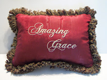 Amazing Grace - dark red taffeta - paisley tapestry on back