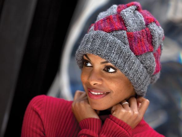 free entrelac hat knitting patterns