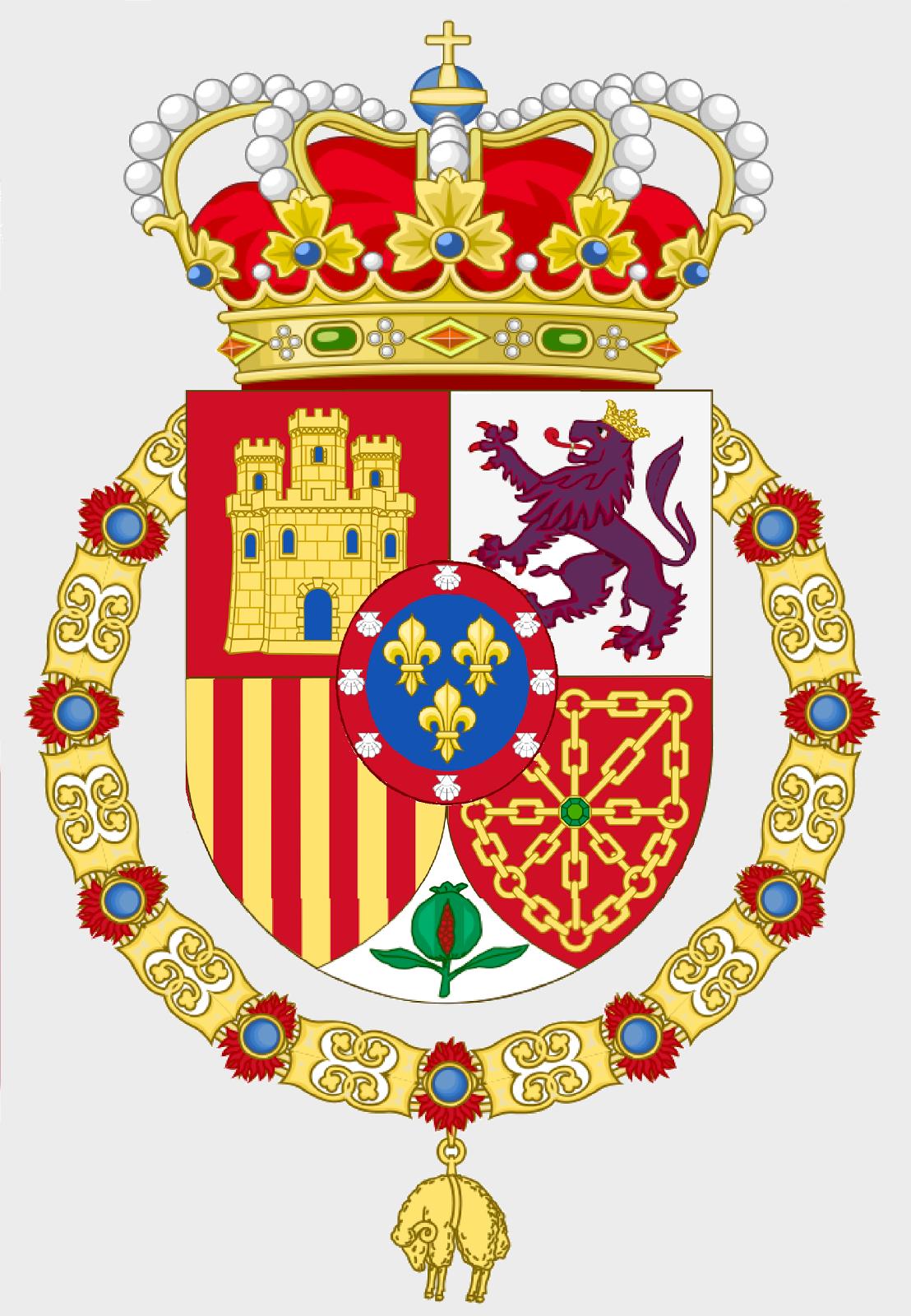 Escudo de SMC don Carlos Javier I de Borbón Parma