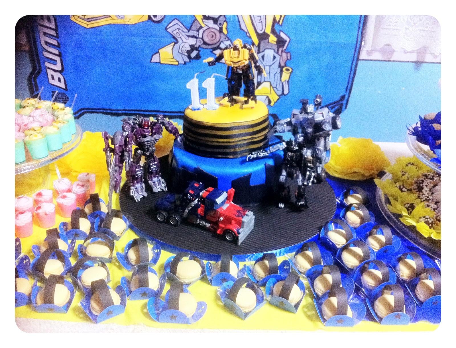 Pattys Pâtisserie Festa infantil Transformers