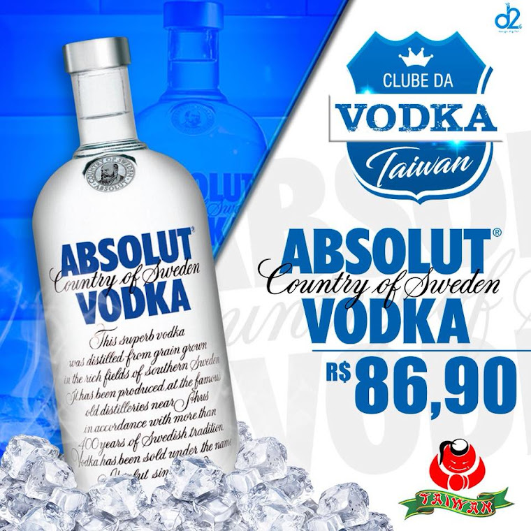 Vodka ABSOLUT Somente: R$86,90 @grupotaiwan