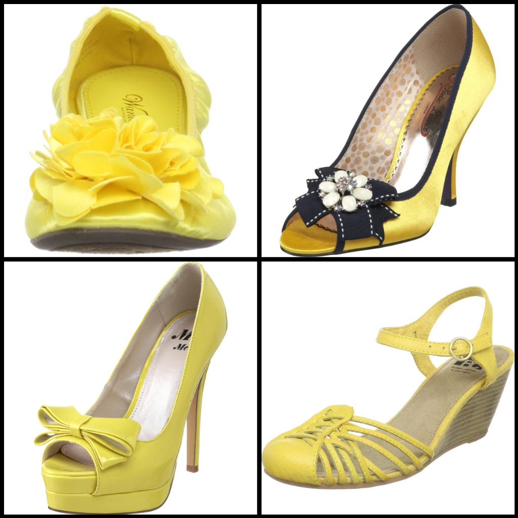 wedding by designs sunshine yellow wedding shoes