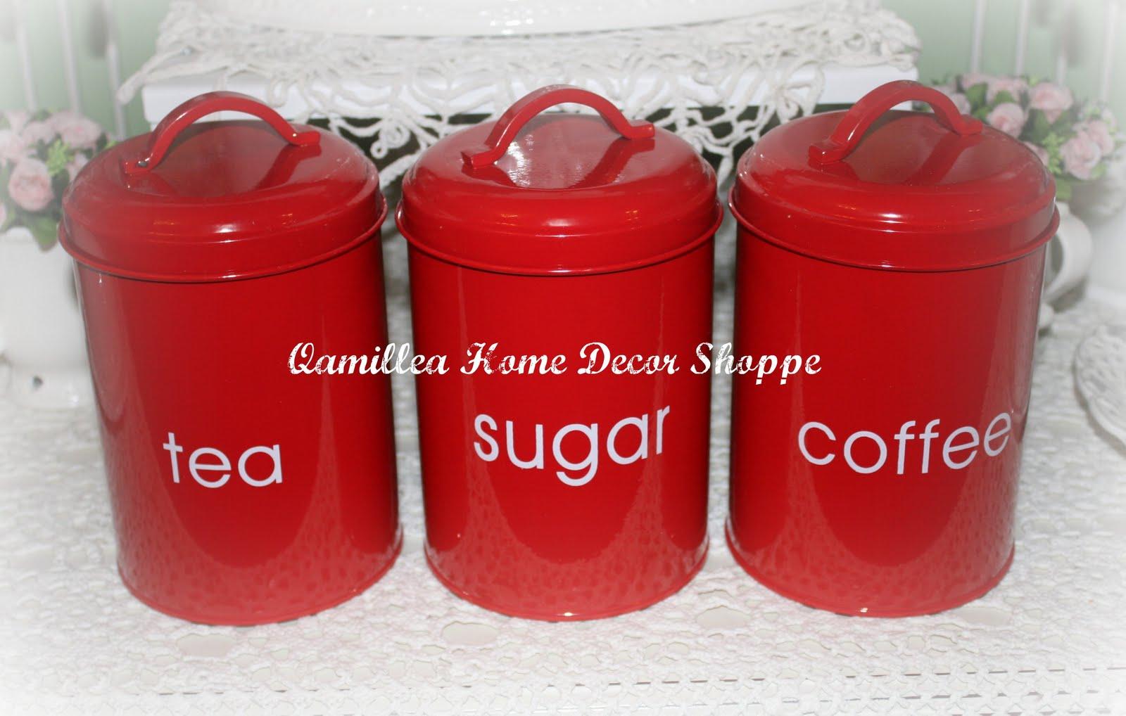 Bred Coffee Tea Sugar Set
