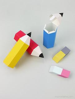 molde caixa lapis lembrancinha dia do professor volta as aulas festa na escola
