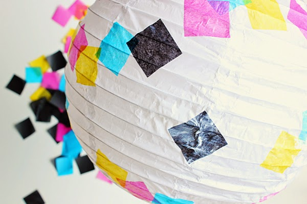 DIY tissue paper chinese lantern oh happy day
