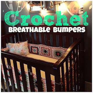 DIY nursery, crochet bumpers, girls nursery