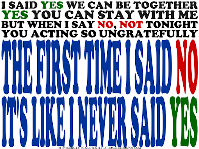 Yes - Beyonce Knowles Song Lyric Quote in Text Image