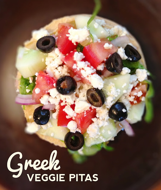 Greek Veggie Pita Sandwich Recipe