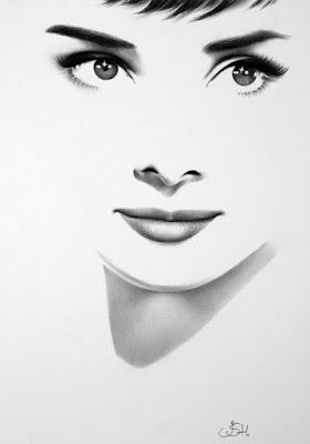 Audrey Hepburn Minimal por Ileana Hunter