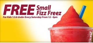 Free Fizz Freez for Kids at Thorntons Stores on Saturdays