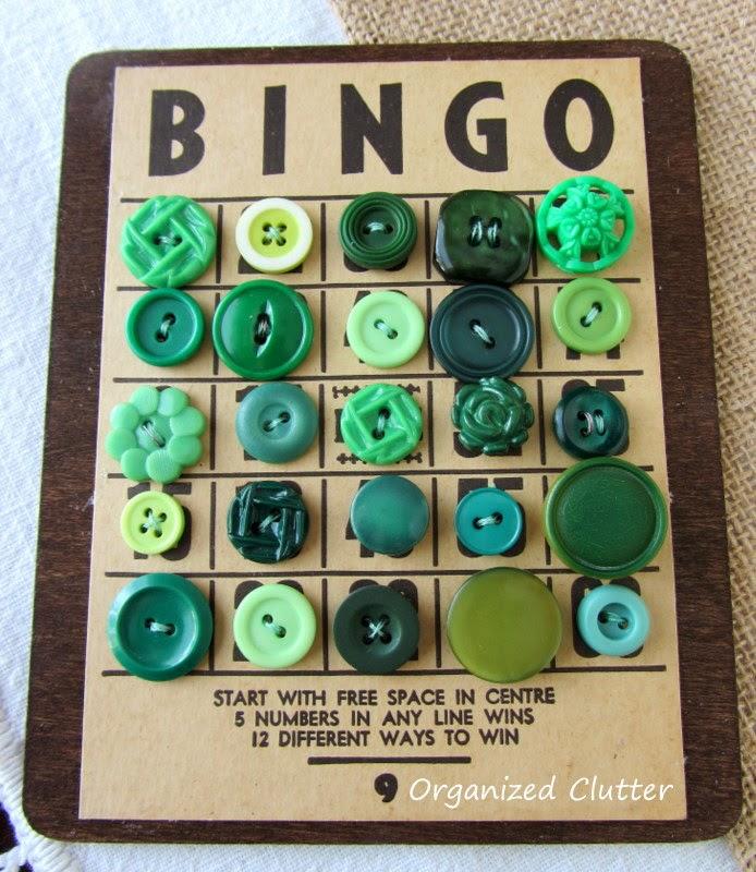 Bingo Button Cards www.organizedclutterqueen.blogspot.com