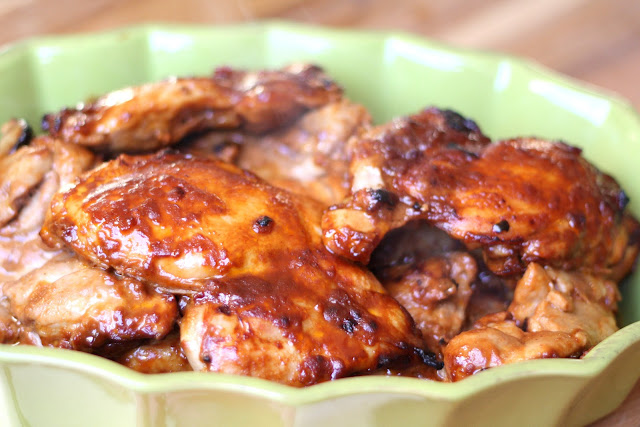 Oven Broiled Chicken with Barbecue Sauce recipe by Barefeet In The Kitchen