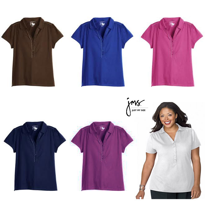 Plus Size Ladies Polo Shirts