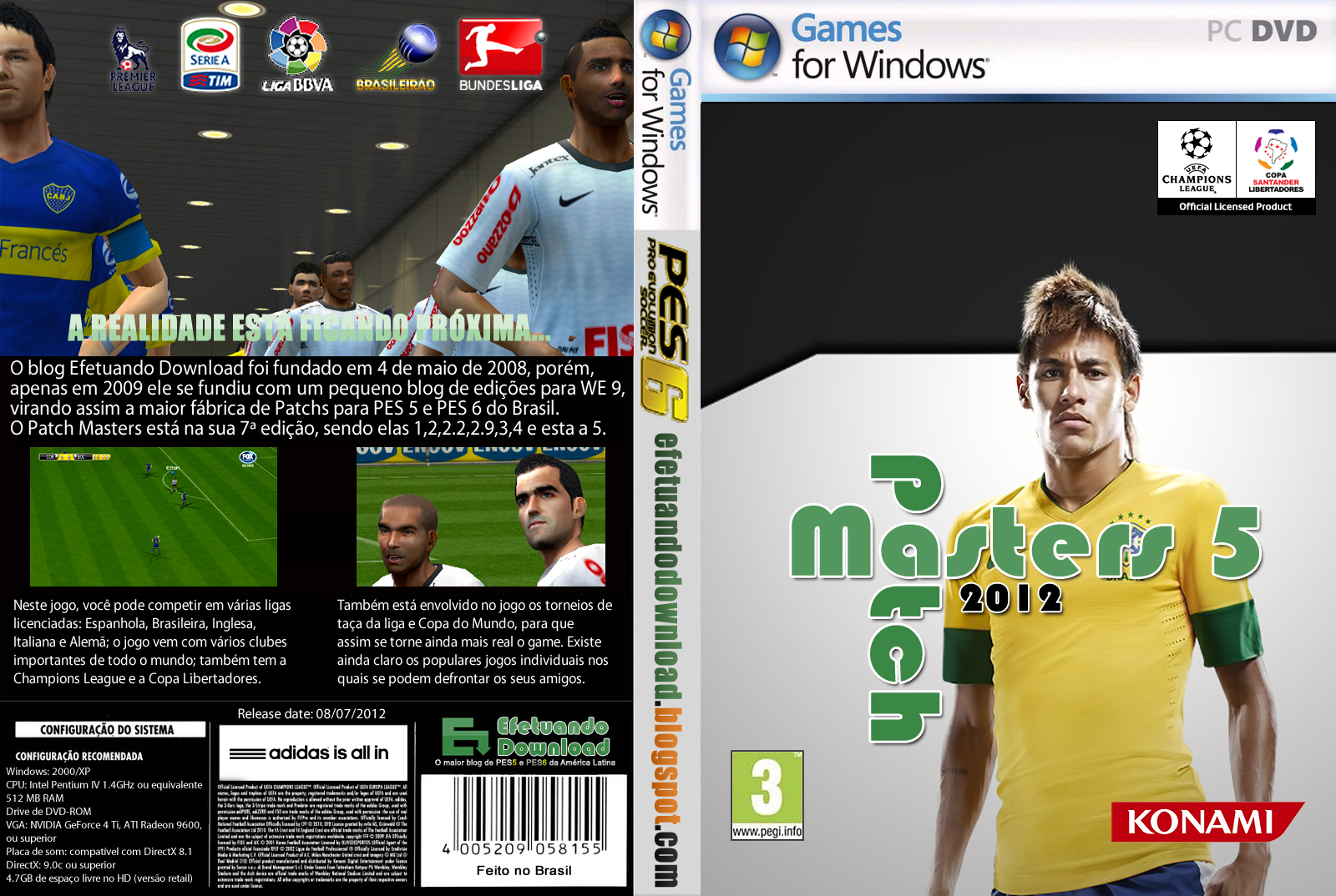 Nich gan ane kasih update Update Patch Masters 5 2012 - PES 6 terbaru langs
