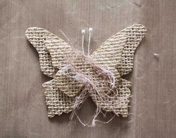 Swirlydoos scrapbook kit club burlap butterfly tutorial for What can i make with burlap