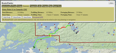 Example of Using the BWCA RouteFinder