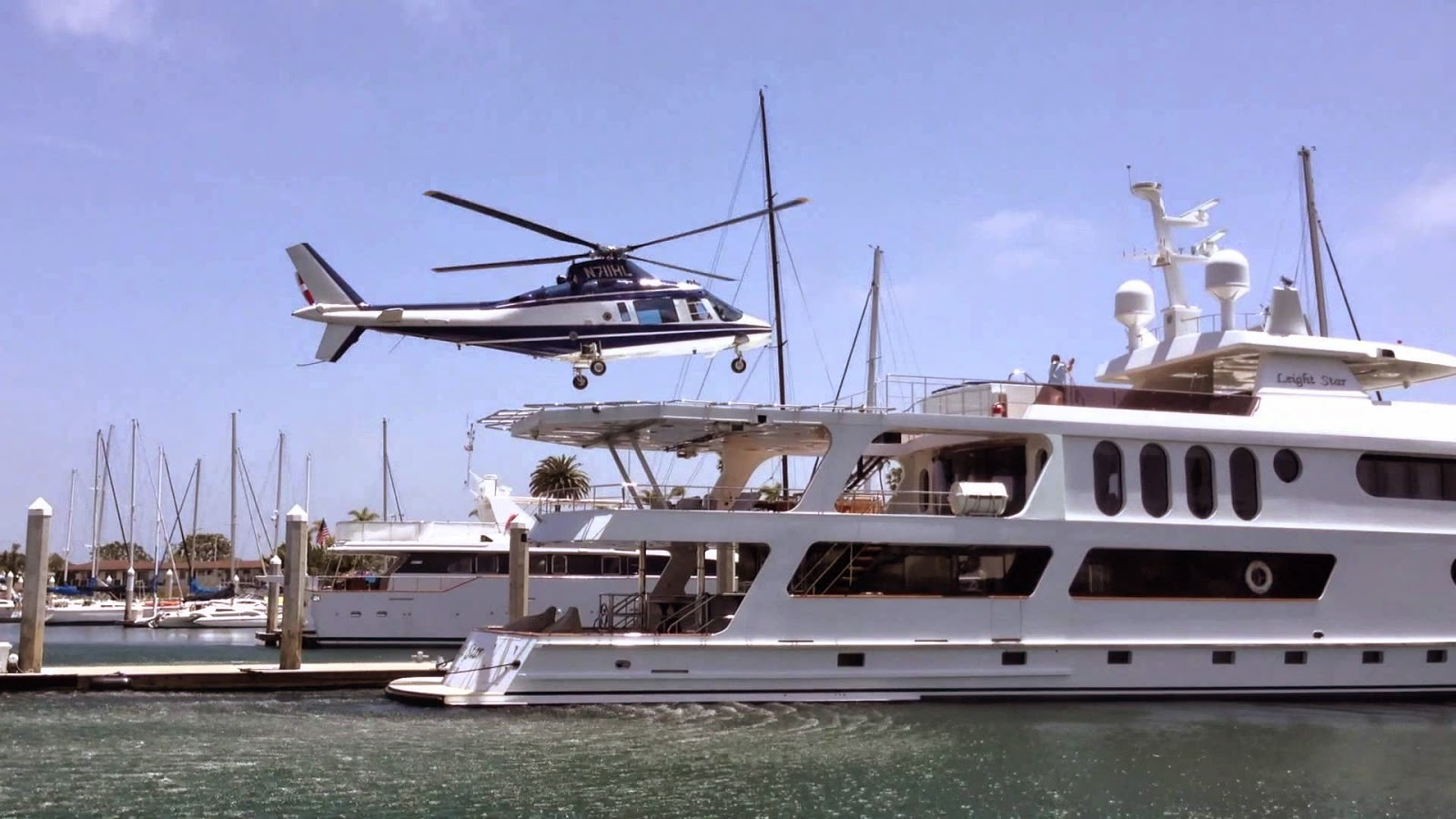 Howard Leight's Private Yacht and Helicopter