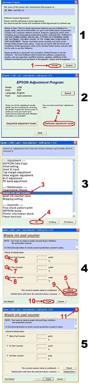 Epson L200 Ink Pad Resetter Software Free Download - paberpb
