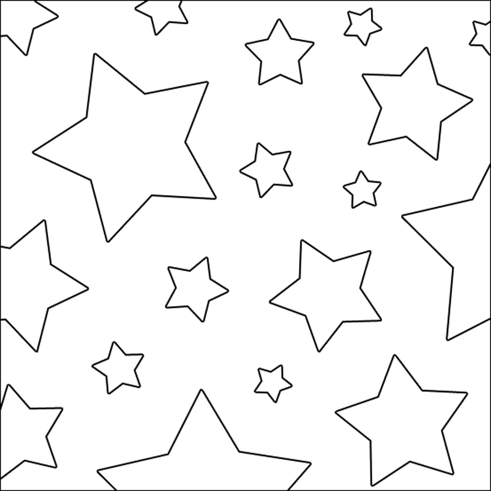 Different size stars coloring coloring pages for Stars coloring page