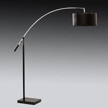 The 2121CC Ark Canteliever Floor Lamp in Black and Chrome