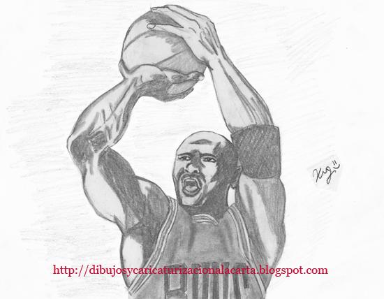 michael jordan en dibujo