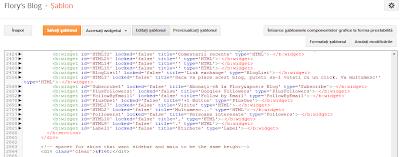 blogger, Editare HTML