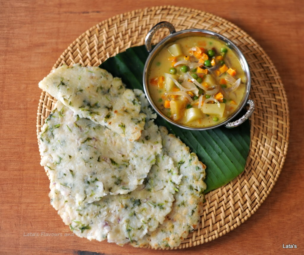 Flavours and tastes akki rotti for Abhiruchi south north indian cuisine