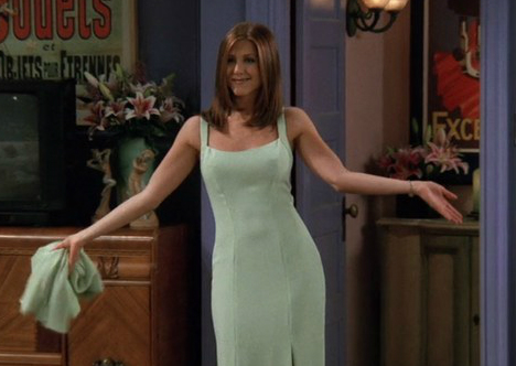 rachel green look vestido mint green