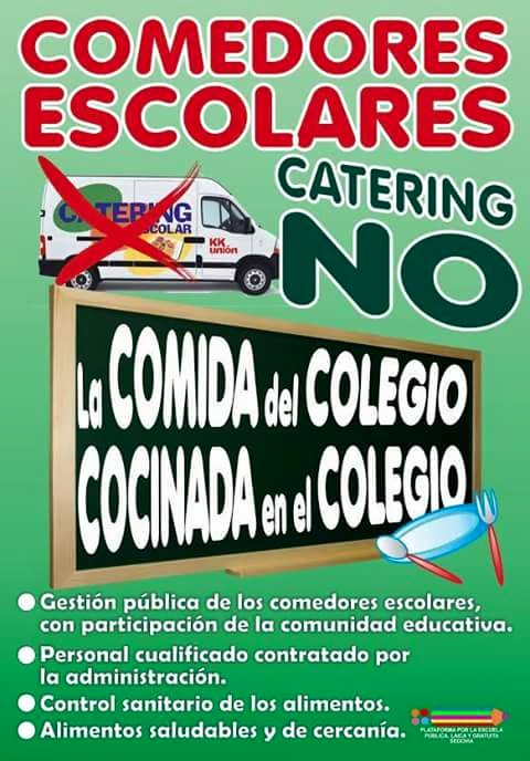 GAtos Sindicales: Comedores escolares: Catering NO