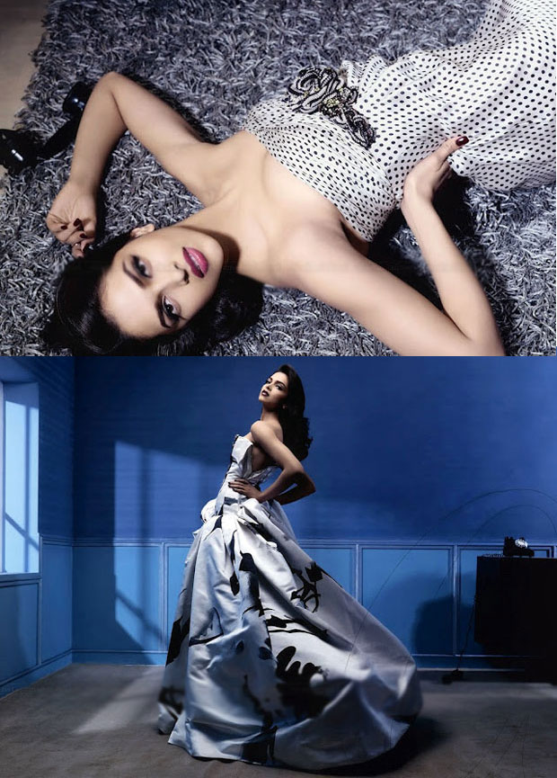 Deepika Padukone shoulders and silver dress - (6) -  Deepika Padukone HOT Vogue 2012 pics CONTINUED..