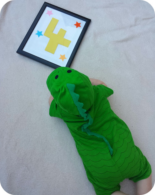 baby dinosaur outfit, 4 month old, Tesco baby clothes