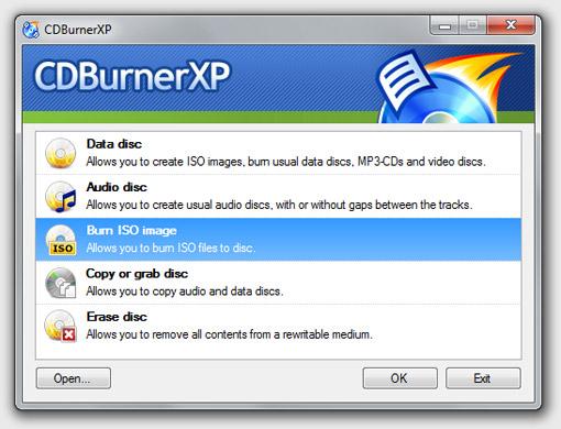 CDBurnerXP - Phần mềm ghi đĩa miễn phí