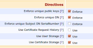 EJBCA Certificate Profile enforce public key and DN options