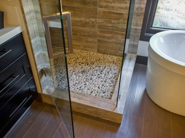 Pebble Tile Bathroom Ideas