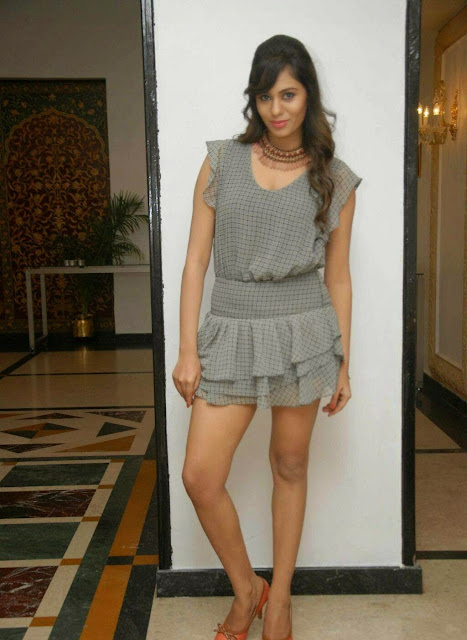 Deepa Sannidhi Stills in Grey Colour Frock